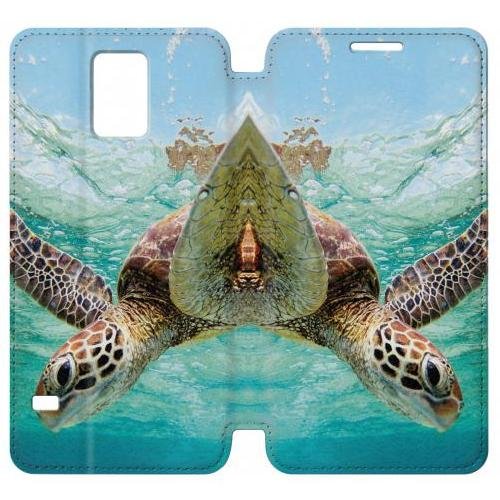 Flip PU Stand Ocean Sea Turtle Phone Case for Samsung Galaxy Note 4