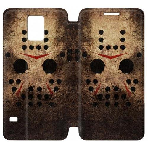 Flip PU Stand Jason Hockey Mask Phone Case for Samsung Galaxy Note 4