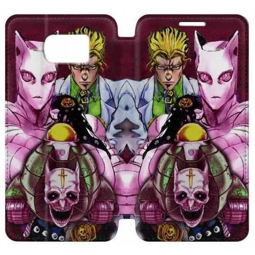 Flip PU Stand Jojo Bizarre Adventure Kira Yoshikage Killer Queen Phone Case for Samsung Galaxy Note 5