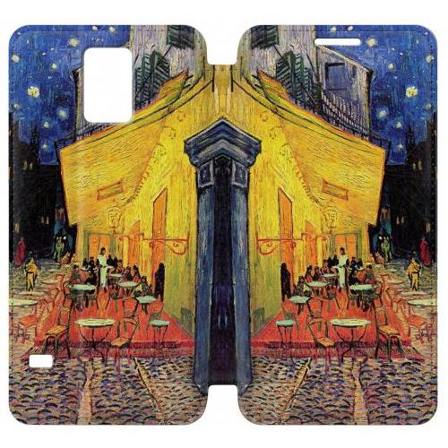 Flip PU Stand Van Gogh Cafe Terrace Phone Case for Samsung Galaxy S5