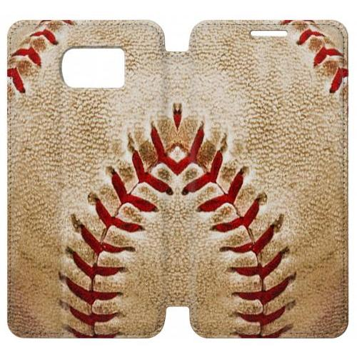 Flip PU Stand Baseball Phone Case for Samsung Galaxy S7