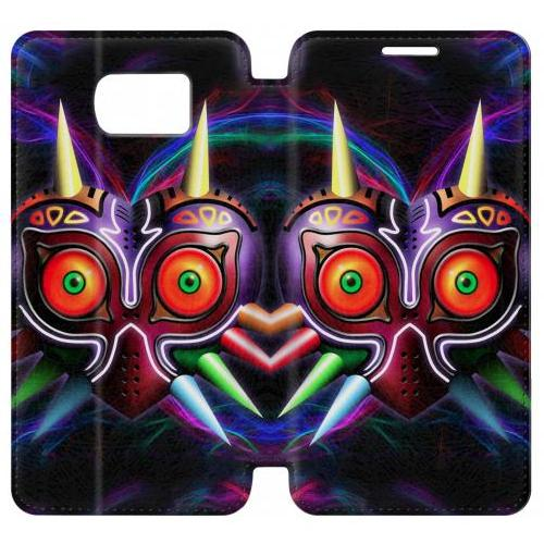 Flip PU Stand The Legend of Zelda Majora Mask Phone Case for Samsung Galaxy S7