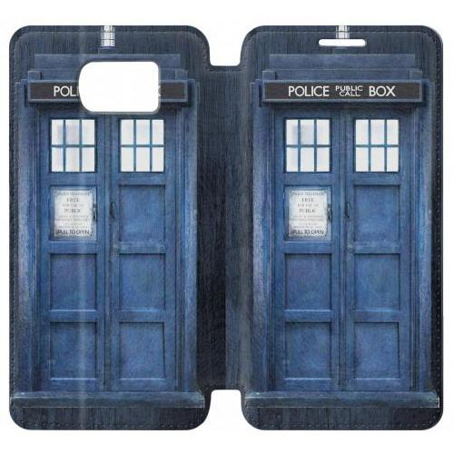 Flip PU Stand Doctor Who Tardis Phone Case for Samsung Galaxy S7