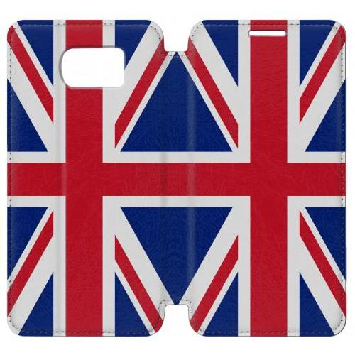 Flip PU Stand Flag of The United Kingdom Phone Case for Samsung Galaxy S7