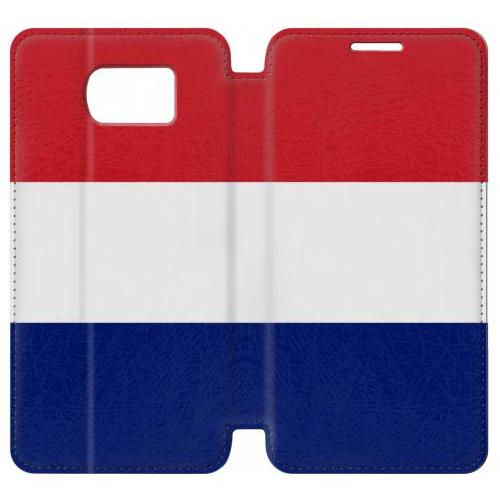 Flip PU Stand Flag of France and the Netherlands Phone Case for Samsung Galaxy S7