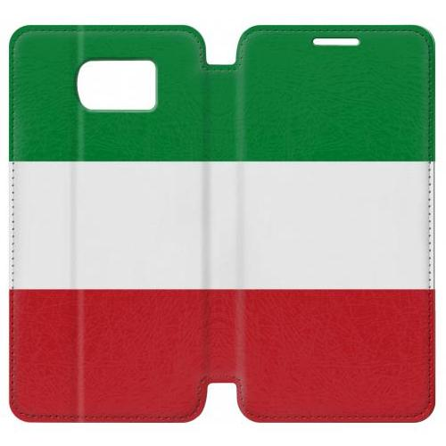 Flip PU Stand Flag of Italy and Mexico Phone Case for Samsung Galaxy S7