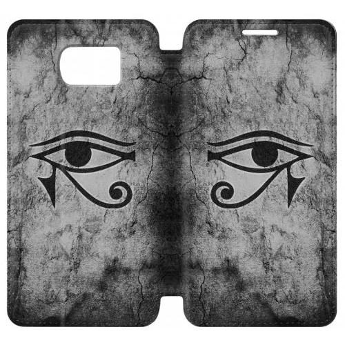 Flip PU Stand Sun Eye Of Horus Phone Case for Samsung Galaxy S7