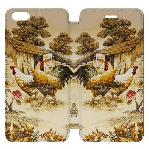 Flip PU Stand French Country Chicken Phone Case for IPHONE 6 PLUS