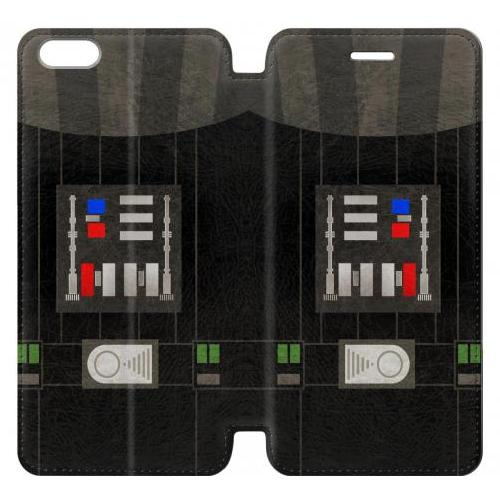 Flip PU Stand Darth Vader Chest Plate Phone Case for IPHONE 6