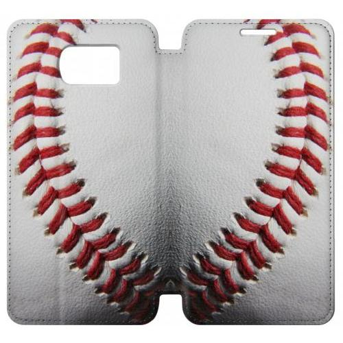 Flip PU Stand New Baseball Phone Case for Samsung Galaxy S6 edge