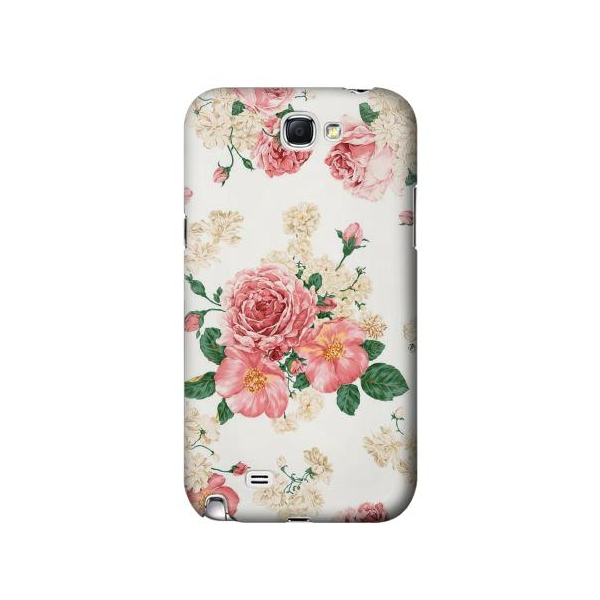 Rose Pattern Phone Case Cover for Samsung Galaxy Note II