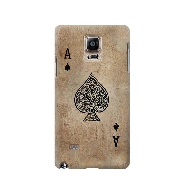Vintage Spades Ace Card Phone Case Cover for Samsung Galaxy Note 4