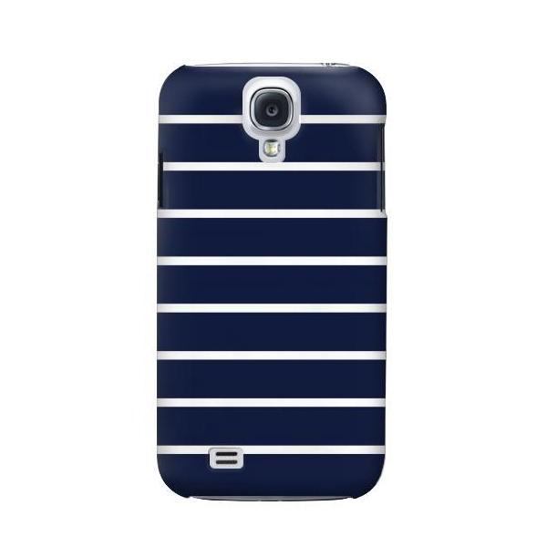 Navy White Striped Phone Case Cover for Samsung Galaxy S4