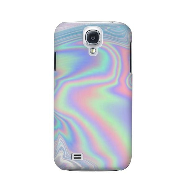 Pastel Holographic Photo Printed Phone Case Cover for Samsung Galaxy S4