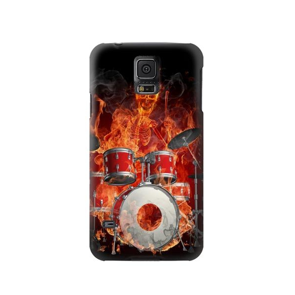 Skull Drum Fire Rock Phone Case Cover for Samsung Galaxy S5