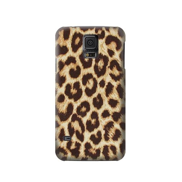 Leopard Pattern Graphic Printed Phone Case Cover for Samsung Galaxy S5