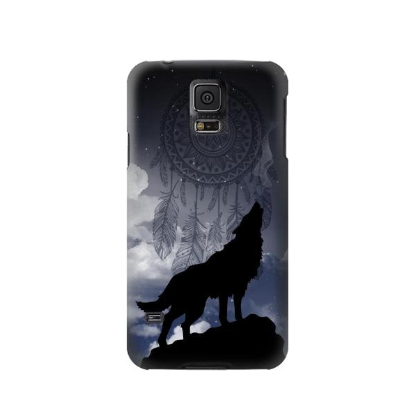 Dream Catcher Wolf Howling Phone Case Cover for Samsung Galaxy S5