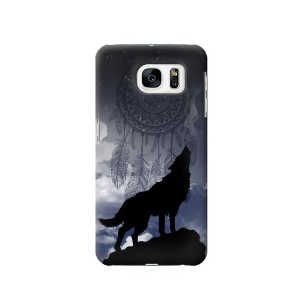 Dream Catcher Wolf Howling Phone Case Cover for Samsung Galaxy S7