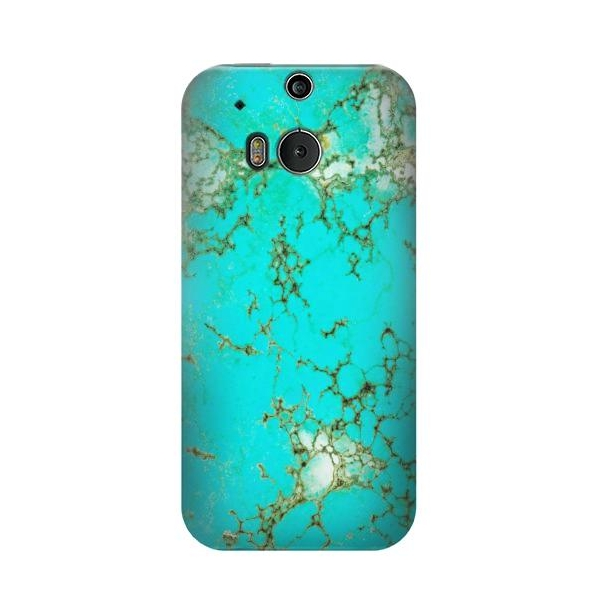 Turquoise Gemstone Texture Graphic Printed Phone Case Cover for HTC One M8
