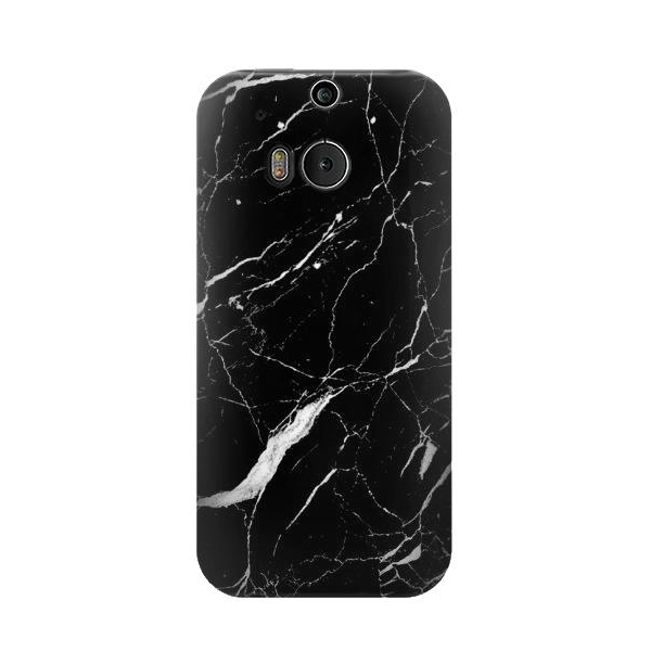Black Marble Graphic Printed Phone Case Cover for HTC One M8