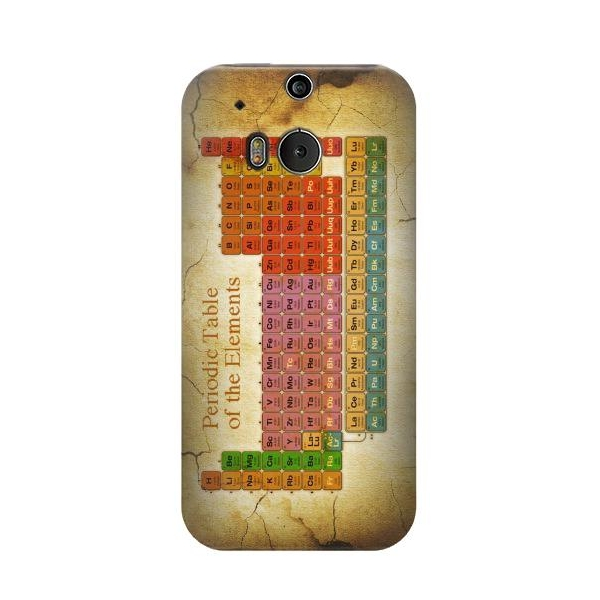 Vintage Periodic Table of Elements Phone Case Cover for HTC One M8