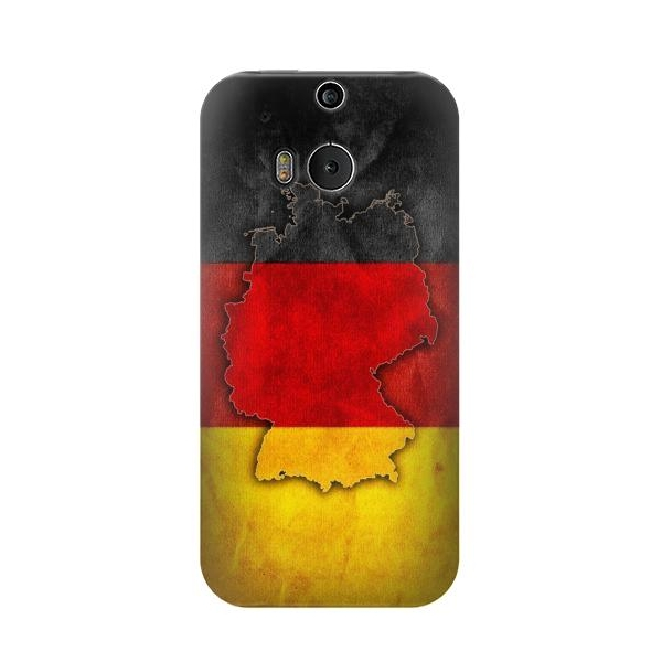 Germany Flag Map Phone Case Cover for HTC One M8