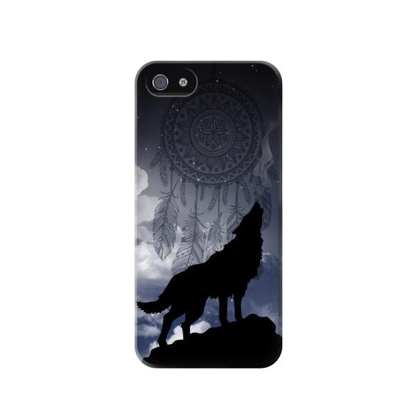 Dream Catcher Wolf Howling Phone Case Cover for iPhone 5c