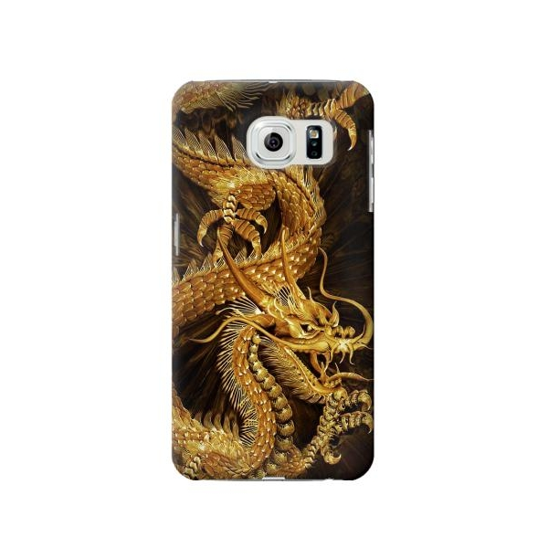 Chinese Gold Dragon Printed Phone Case Cover for Samsung Galaxy S6 edge